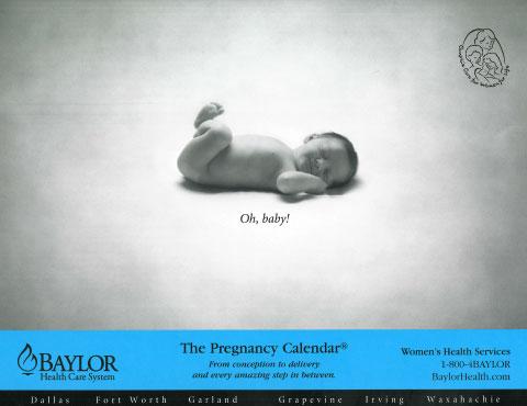 samples of custom calendars   the pregnancy calendar and